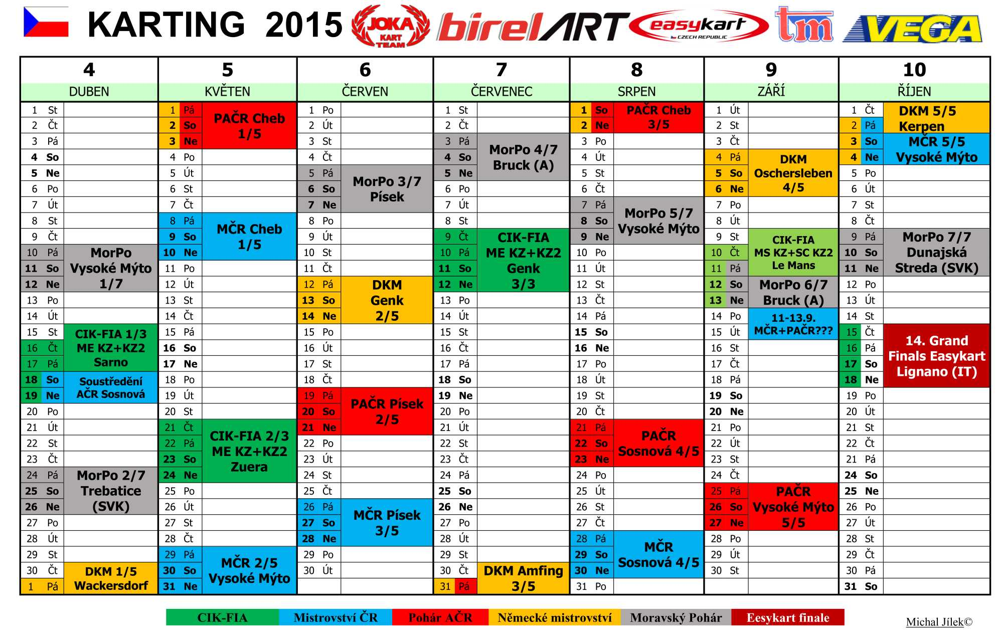 KalendarKarting 2015